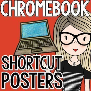 Twelve different Chromebook shortcuts are featured in this blue and green chevron design. Each poster is a half sheet, making this easy to print and prep. The shortcuts included are:-Copy-Paste-Zoom In-Zoon Out-Reset Zoom-Save-Print-Cut-Undo-New Tab-Lock