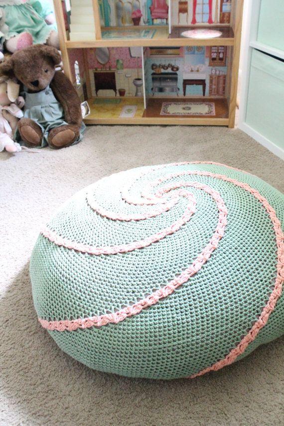 Spiral Floor Pouf PDF CROCHET PATTERN by AbigailHazeDesigns Knitting & Crochet Inspiration ...