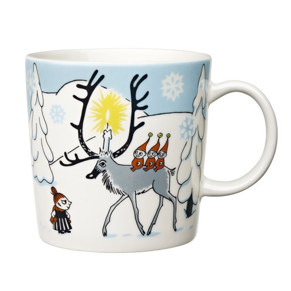 'Winter Forest' Arabia Finland Moomin Mug. I buy these every year (& use them myself too). This is the 2012 design & reminds me of my #3