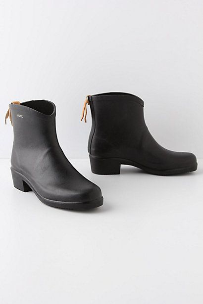 Yes, I would wear these.  Cowboy Rain Boots - Anthropologie.com