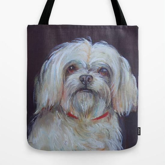 Bichon, dog portrait by Canis Art Studio. Art prints, tote bags, mugs and more #dog #bichon  #art #artprint #print #bag #canisartstudio