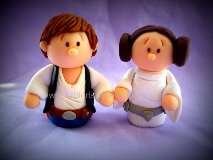 Star Wars Wedding Cake Toppers Princess Leia and Hans Solo Bride Groom Husband Wife Keepsake Collectable