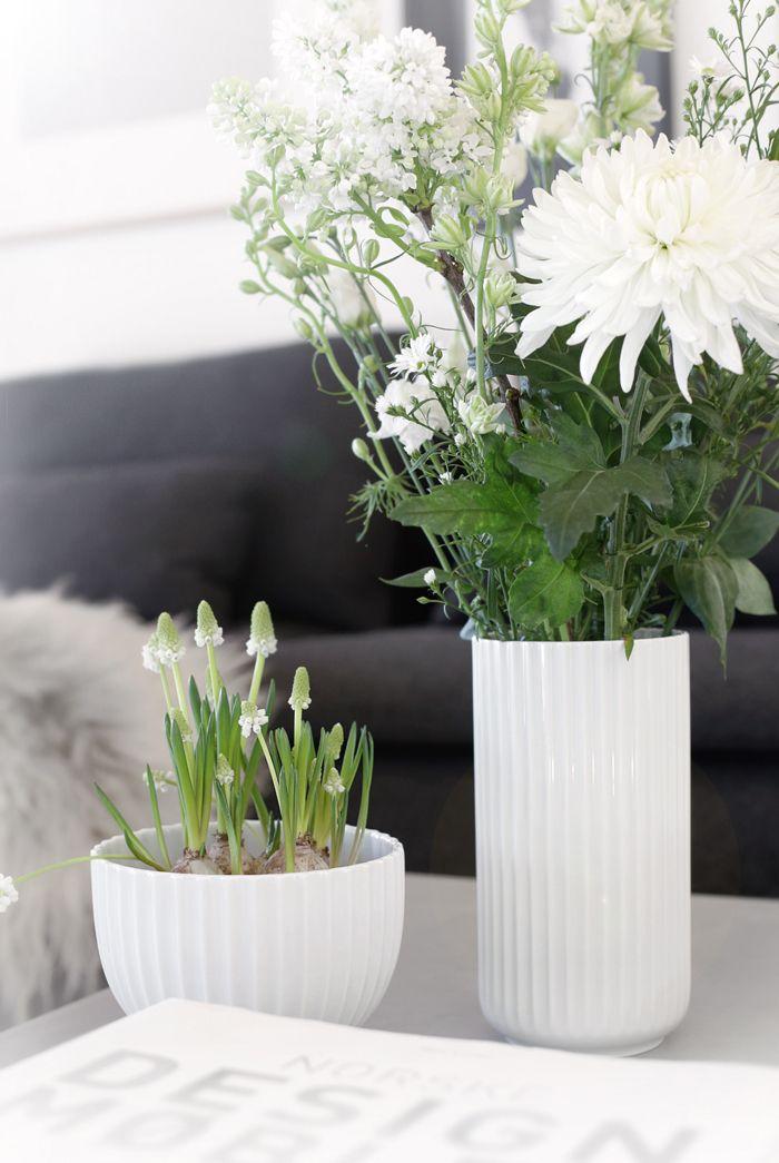 White Lyngby vase