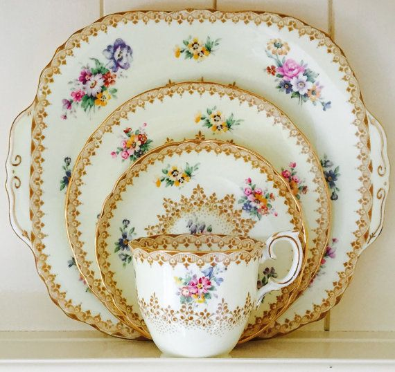 Exquisite Vintage Crown Staffordshire English by CTilstonandCo