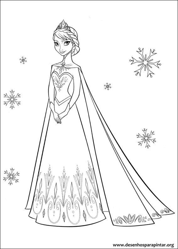 Frozen, Disney, para, colorir, Princesa, do Gelo, pintar, imprimir