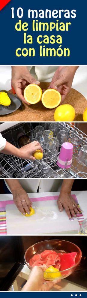 10 maneras de limpiar la casa con limón #limpieza #casa #baño #cocina #sinquimicos #limón