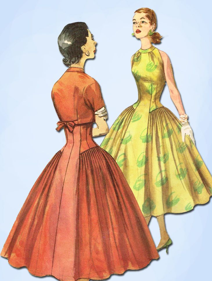 1950s Vintage Simplicity Sewing Pattern 1571 Misses Cocktail Dress Size 14 32 B #Simplicity #CocktailDressPattern