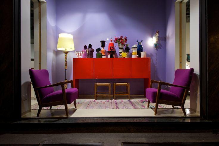 color stripes vase - #storage #red #violet °armchair