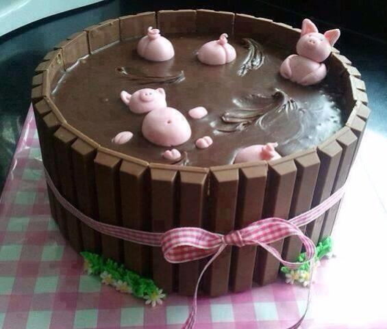 Gracioso pastel de chocolate. pic.twitter.com/Cf7qGLPEsb