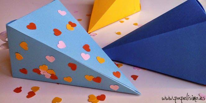 Caja de regalo o dulcero pirámide