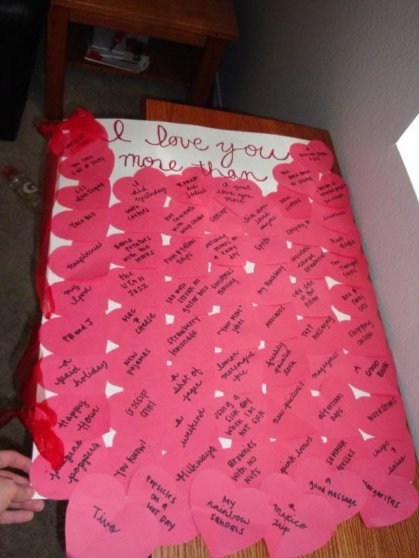 Valentine/anniversary gift ideas.