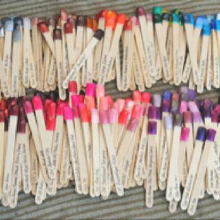 Nail polish organizing.