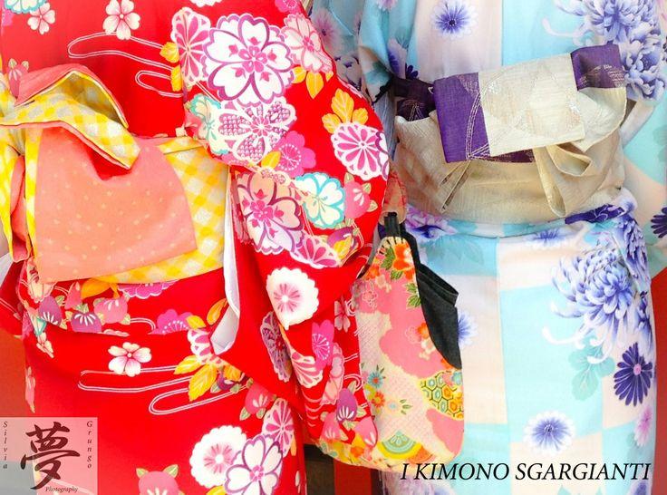 Colorful Kimonos  #japan #kimono