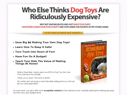 how to make your own dog toys