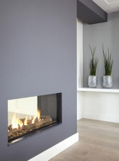 41 best images about fire place on pinterest - Deco moderne open haard ...