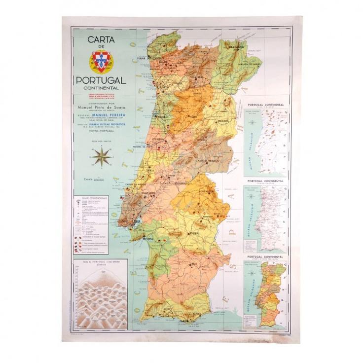 Mapa de Portugal de 1967 Best 50