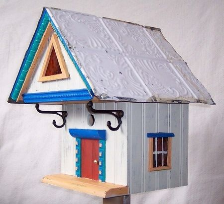 Stained Glass House - THOM BRUSO'S ARTISTIC BIRDHOUSES