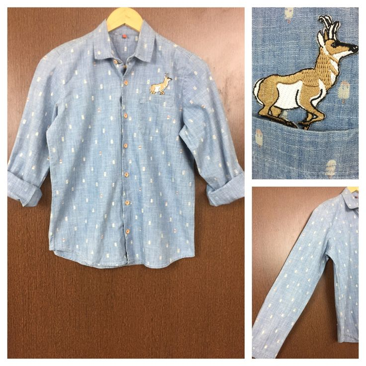 Last few pieces remaining: Patched - Light B..., visit http://ftfy.bargains/products/patched-light-blue-denim-deer-shirt?utm_campaign=social_autopilot&utm_source=pin&utm_medium=pin  #amazing #affordable #fashion #stylish