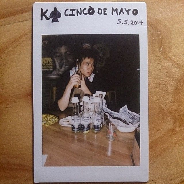 52 cards in a deck // 52 weeks in a year. $5 Burritos and Coronas at GYG in Civc on Cinco de Mayo. We ate so much Mexican Food! #food #polaroid #photochallenge #photography
