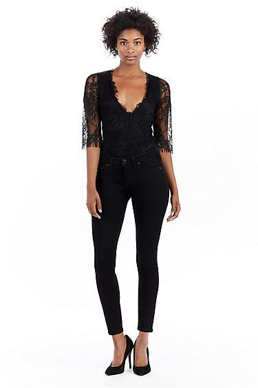 True Religion Deep V Womens Bodysuit