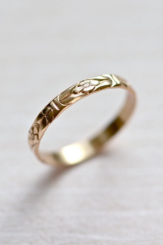 14kt Gold Forget Me Not Ring 1 Wishlist Pinterest