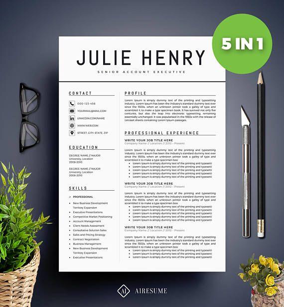 Modern Resume Template / CV Template  Cover Letter