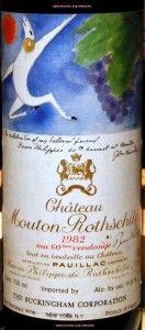 """The labels of Mouton Rothschild! .... Top year 1982 .... John Huston ..... at WijnGekken.nl ....    De etiketten van Chateau Mouton Rothschild, """"1982""""   3 Wijngekken die dol zijn op wijn !"""