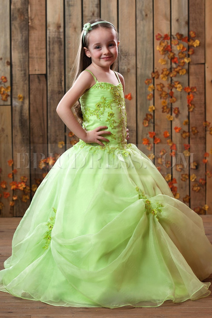 Green Flower Girl Dresses Cheap Fashion Dresses