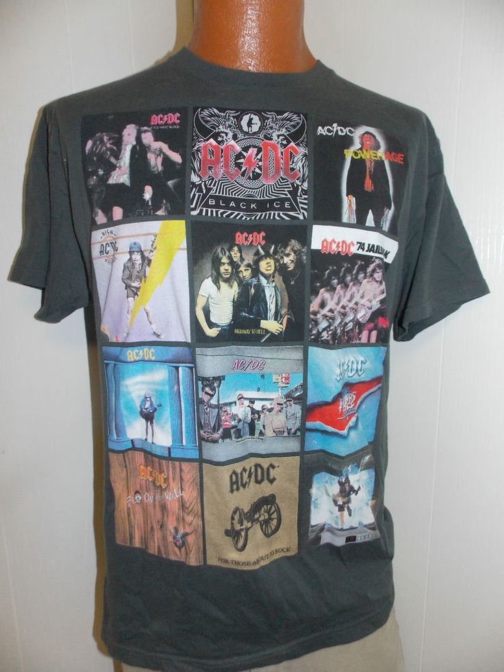 AC/DC ACDC ALBUM RECORD COVERS Mens T Shirt Size L #other #BasicTee