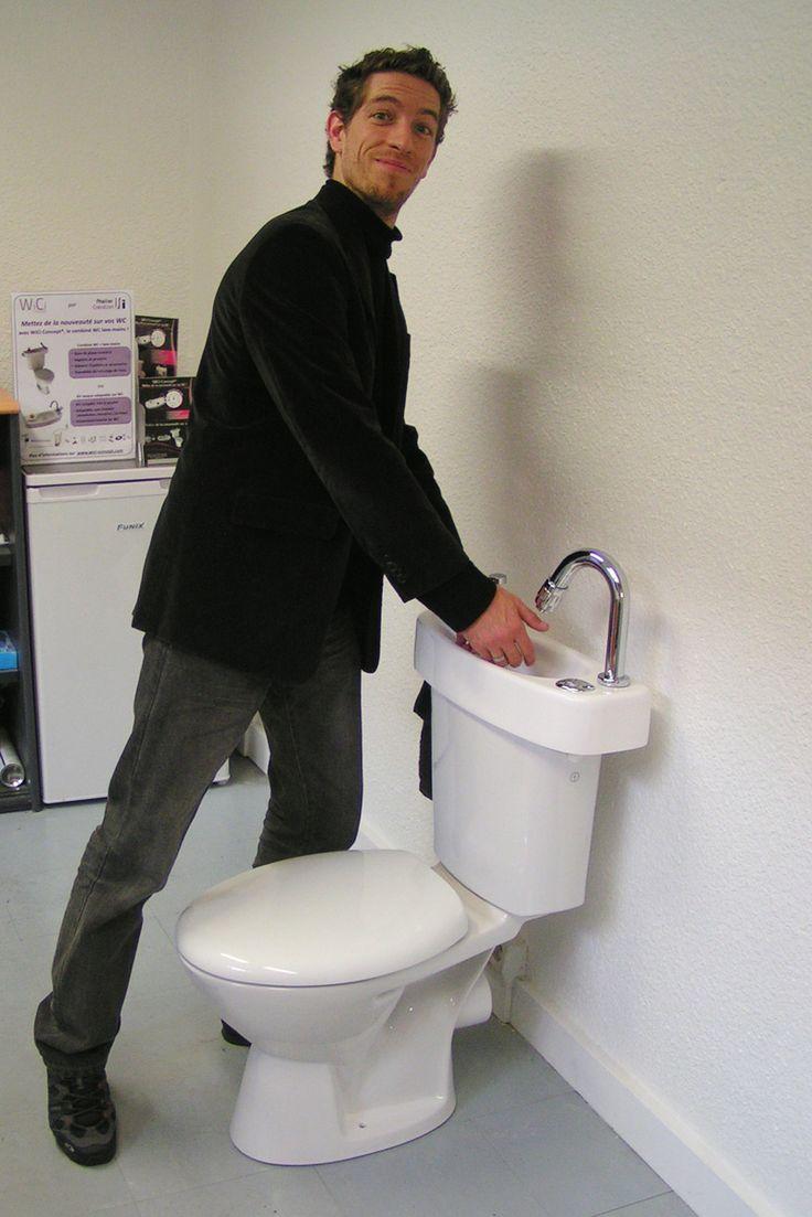 Combiné WC lave mains WiCi Concept, en action 1 sur 3