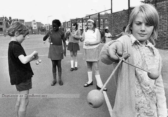 Everyone my age will remember Clackers. A ridiculous and reportedly dangerous toy (broken wrists) that was banned from schools.