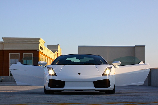 Lamborghini Gallardo Spyder. now I personally like it when the doors go up but this one is still nice