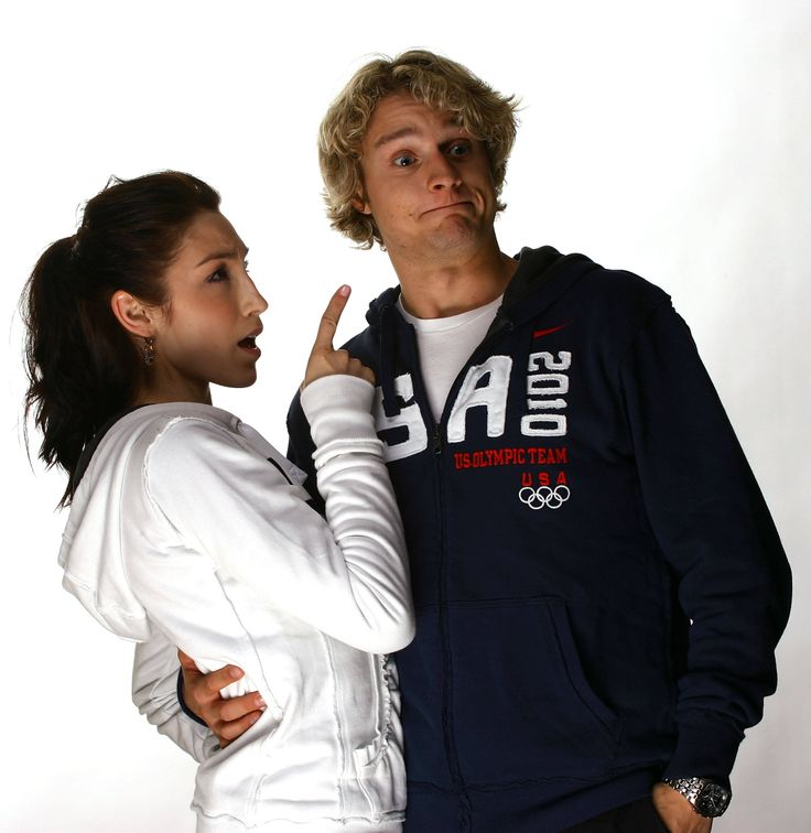 Love these funny ones :->  Two of my all-time favorites, Meryl Davis and Charlie White, goofing around during a photoshoot.