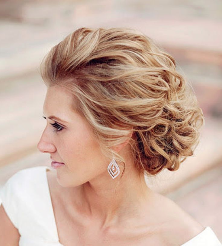 Formal wedding up-do for short medium hair