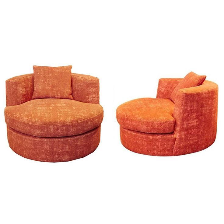 pair of upholstered swivel chairs designed by apsara interior design from a unique collection of