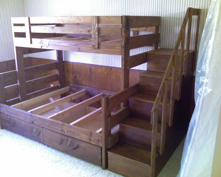 bunk bed ideas diy bunk beds plans diy bunk beds for girls room bunk ...