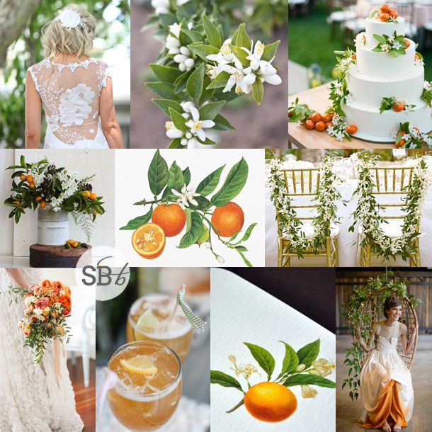 Orange Blossom Wedding Inspiration | SouthBound Bride www.southboundbride.com/inspiration-board-orange-blossom (Full credits on blog post)