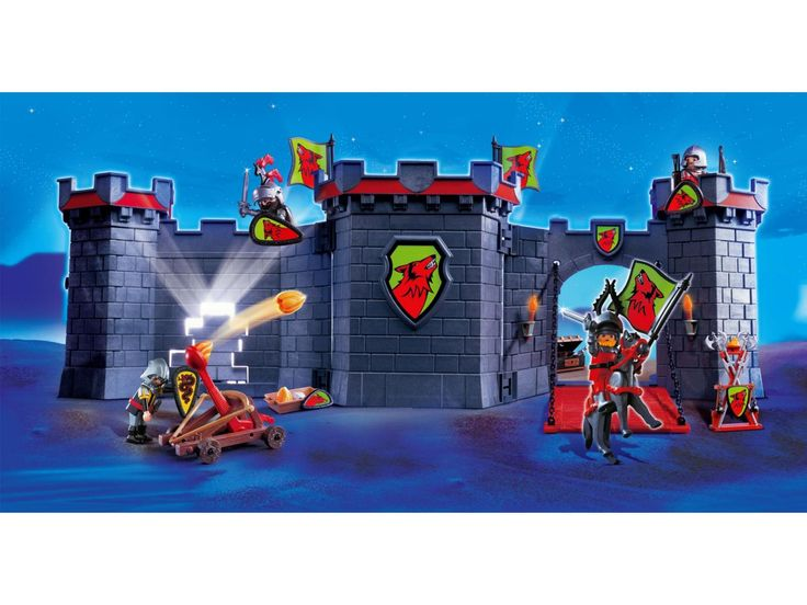 playmobil - 4440 - citadelle des chevaliers transportable