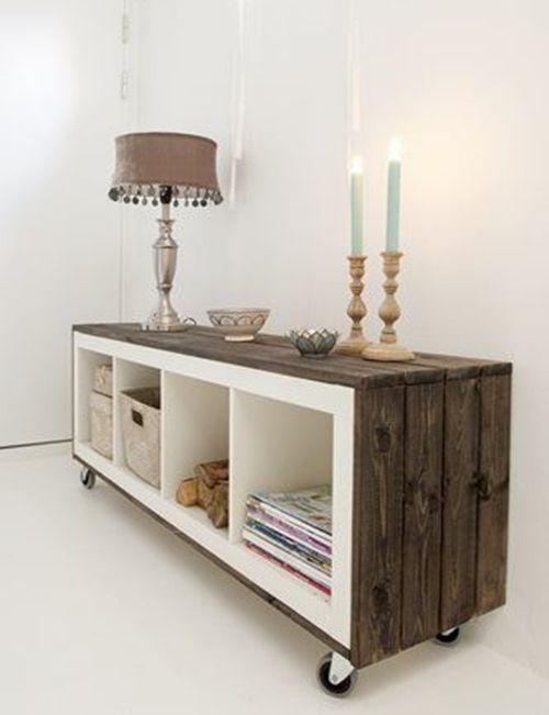 cmo transformar muebles ikea tunear estanteras ikea expedit con palets