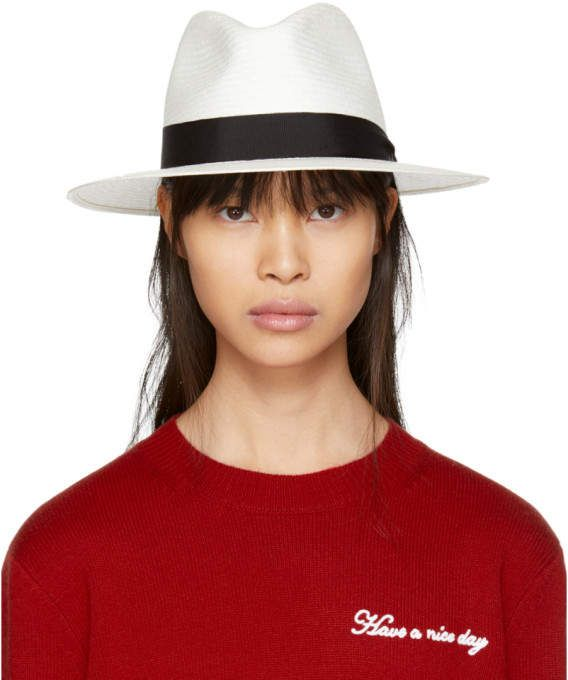8ae23835 White Panama Hat #white#Crease#crown | handmade | Rag, bone, Hats ...