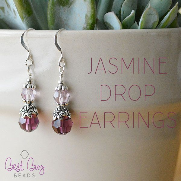 Accessorize with these beautiful Jasmine Drop Earrings! So gorgeous!