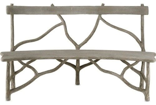 Curved Outdoor Bench Olmsted Faux Bois Curved Bench Eclectic Outdoor Benches