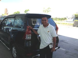 Hire a car and driver in Bali. New, air conditioned car with an English speaking, friendly, helpful, safe drive. See details on http://www.silabalicar.com/