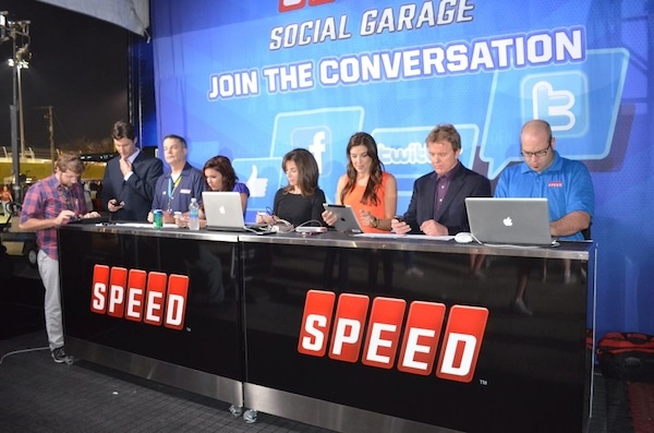 Speed TV introduces a physical version of its Social Garage to a live NASCAR race for the first time ever at the Daytona 500