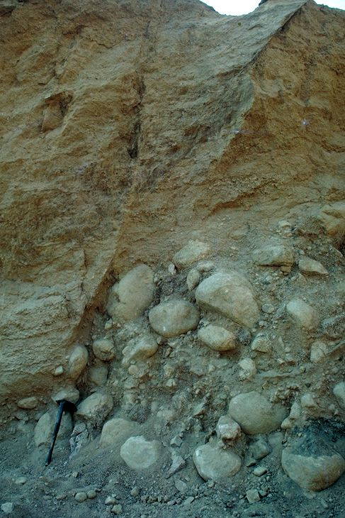 Fault exposure...and some glacial diamicton.