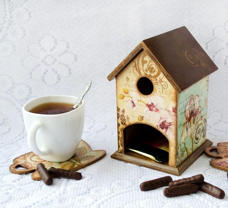 """Чайный домик с цветами. Пошаговый декупаж. - Интернет-магазин товаров для декупажа """"Salfetka-shop.ru"""""""