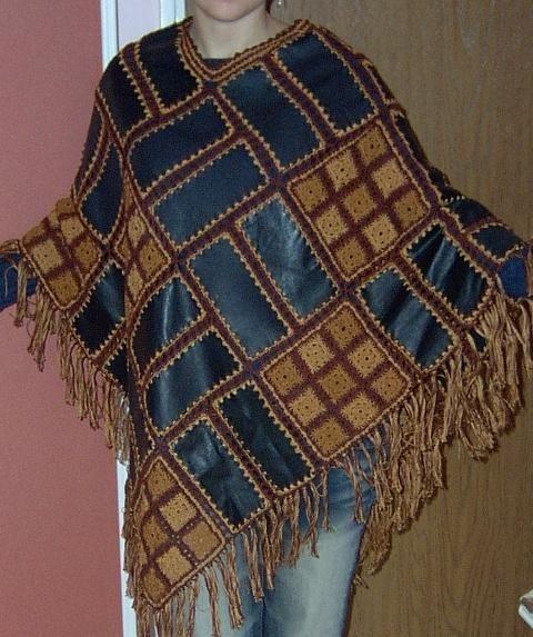 Кожа и крючок.  Это фото лучше всего найти в рубрике Манишка для женщины выкройка , Вязание спицами шапки бесплатные...