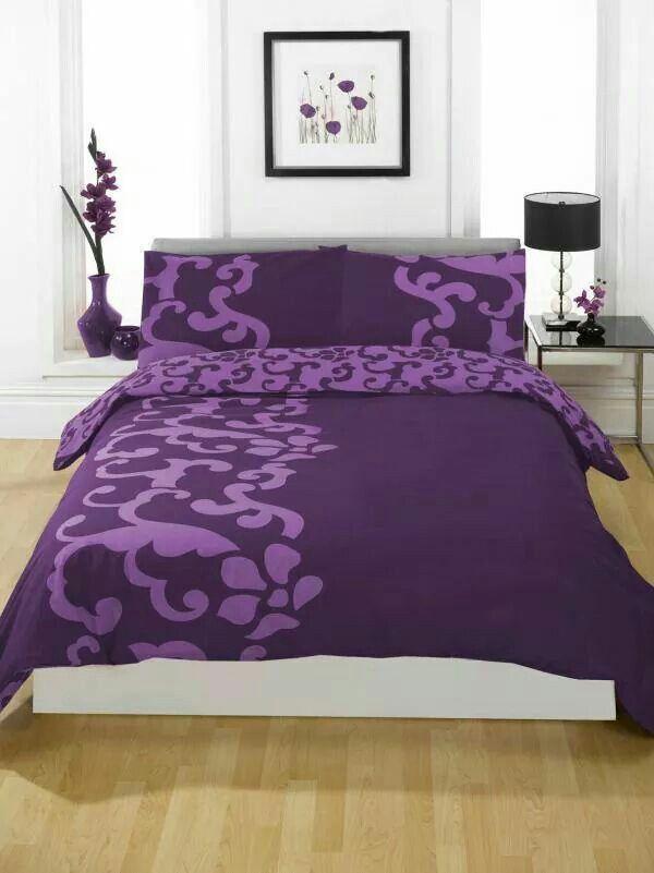 purple bedspread bedroom decor