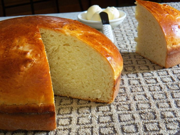 Portuguese Sweet Bread: Sweet and delicious. Great with butter or for making French toast!