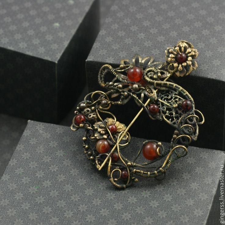 Фибула -Брошь Майские цветы - винтажные украшения,винтажный,винтажный стиль